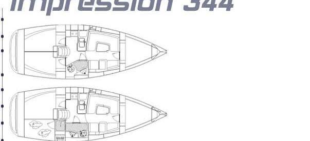 sejlbåd Elan 344 Impression