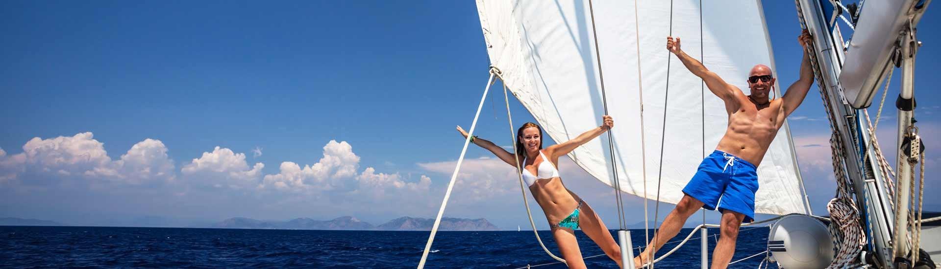 Hav det sjovt på sejlbåd