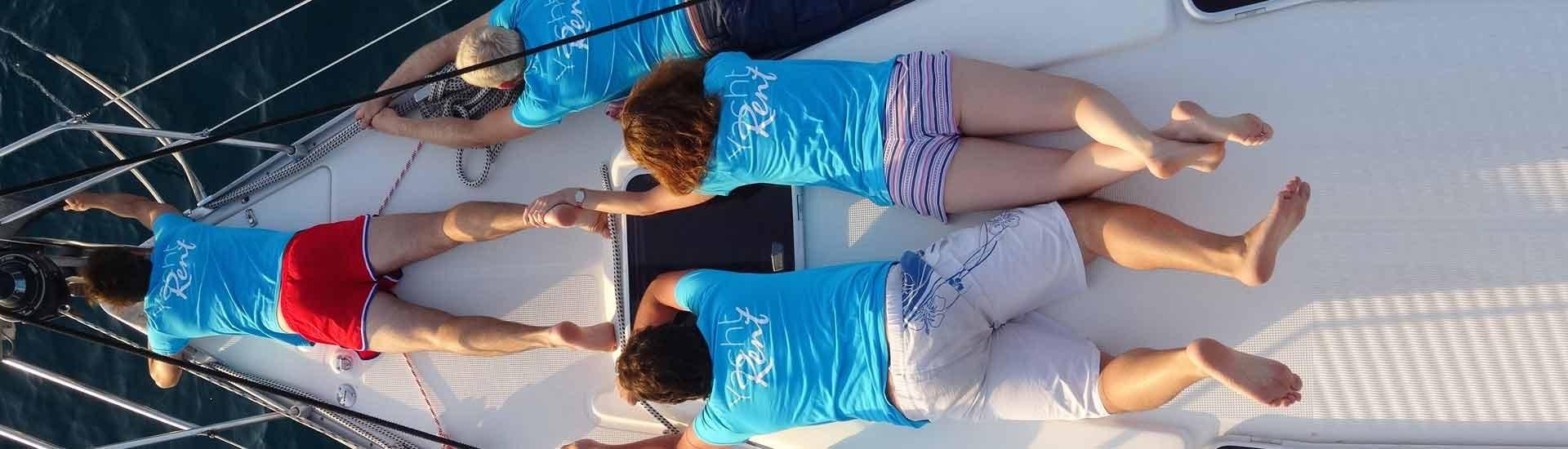 Yacht-Rent på ryggen